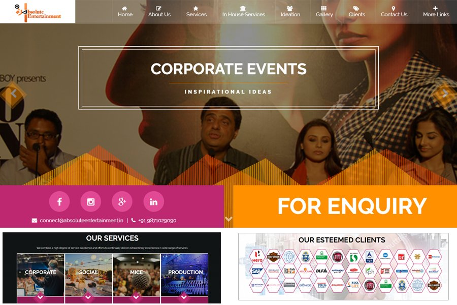 Corporate Web Design and Development online Marketing
