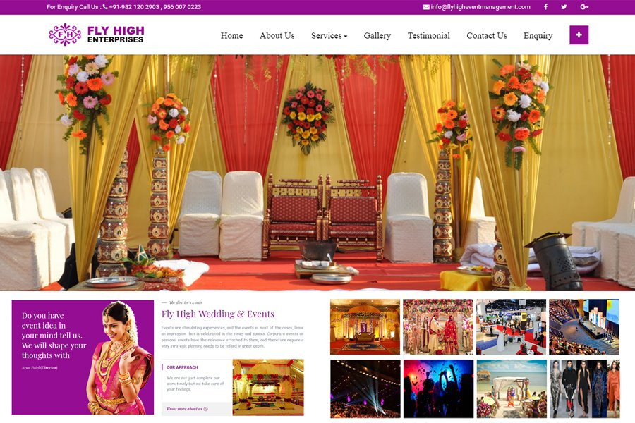 Event management Website Design And Development online Marketing